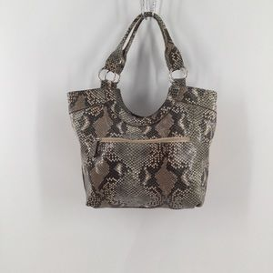Style&Co. faux snakeskin faux leather straw purse
